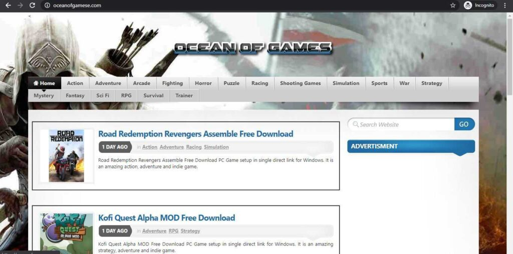 oceanofgames website