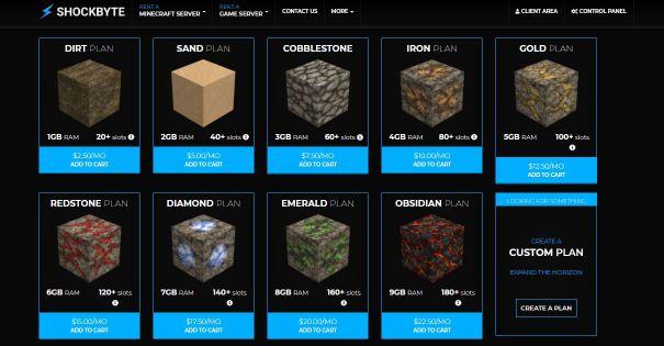 shockbyte best Minecraft hosting
